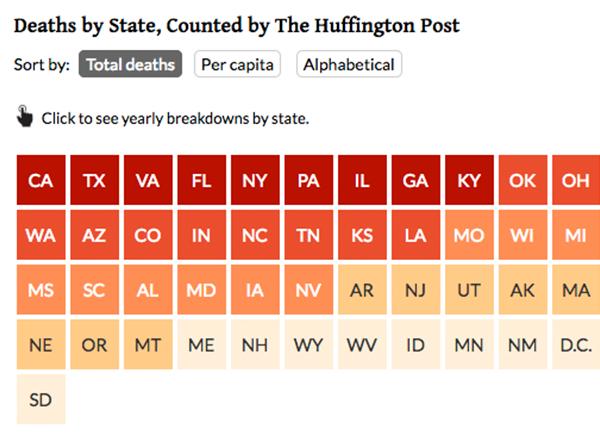 HuffPost Data - Huffington post us election map